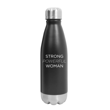 Strong powerful woman 16oz water bottle shop image 770x700 front